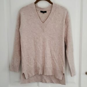 Fate Oatmeal Wool/Cashmere Vneck Sweater